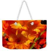 Gladiola Coral Weekender Tote Bag