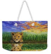 Glancing In The Water Weekender Tote Bag