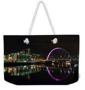 Glasgow Clyde Arc Bridge At Night Weekender Tote Bag