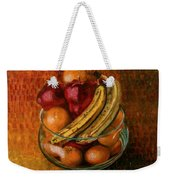 Glass Bowl Of Fruit Weekender Tote Bag by Sean Connolly