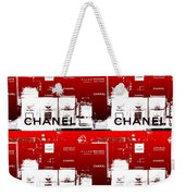Glass Case Red Pop Four Weekender Tote Bag