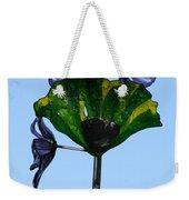 Glass Hollyhocks Weekender Tote Bag