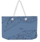 Glass Mold Patent On Blue Weekender Tote Bag