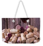 Glass Of Wine With Corks Weekender Tote Bag