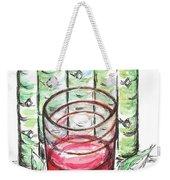 Glass Rosy Wine Weekender Tote Bag