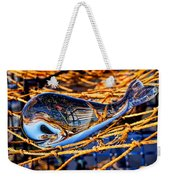 Glass Whale On Fishing Nets Weekender Tote Bag