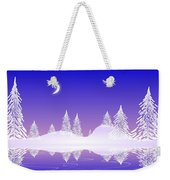 Glass Winter Weekender Tote Bag