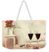 Glasses Of Red Wine Weekender Tote Bag