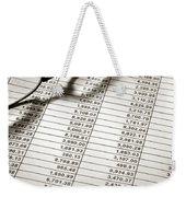 Glasses On Spreadsheet Weekender Tote Bag