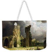 Glastonbury Abbey With The Tor Weekender Tote Bag