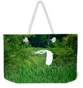 Gliding Egret Weekender Tote Bag