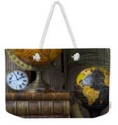 Globes And Old Books Weekender Tote Bag