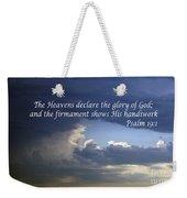 Glory To God   Psalm 10 1 Weekender Tote Bag