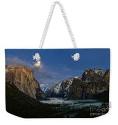 Glow - Moonrise Over Yosemite National Park. Weekender Tote Bag