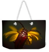 Glowing Beetle Weekender Tote Bag