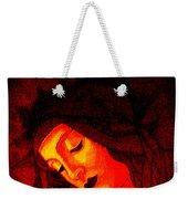 Glowing Botticelli Madonna Weekender Tote Bag