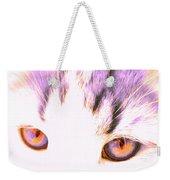 Glowing Cat Eyes Weekender Tote Bag