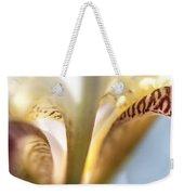 Glowing Details. Macro Iris Series Weekender Tote Bag
