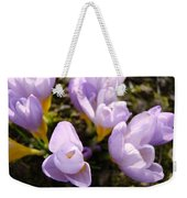 Glowing Floral Art Prints Crocus Flowers Weekender Tote Bag
