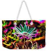 Glowing Flower Weekender Tote Bag