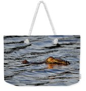 Glowing Gator Weekender Tote Bag