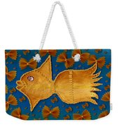Glowing  Gold Fish Weekender Tote Bag
