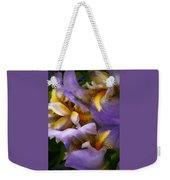 Glowing Iris' Weekender Tote Bag
