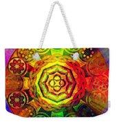 Glowing Mandala Weekender Tote Bag