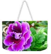 Gloxinia Flower Weekender Tote Bag
