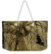 Gnarled And Twisted Tree With Crow Weekender Tote Bag