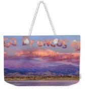 Go Broncos Colorado Front Range Longs Moon Sunrise Weekender Tote Bag