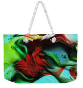 Go With The Flow Abstract Weekender Tote Bag