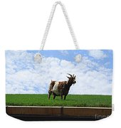 Goat On A Sod Roof In Sister Bay In Wisconsin Weekender Tote Bag