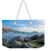 Goat Rock State Beach Near Russian River Outlet Near Jenner-ca Weekender Tote Bag