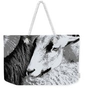 Goat Snuggled In With Family Weekender Tote Bag