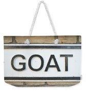 Goat Weekender Tote Bag by Tom Gowanlock