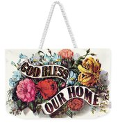 God Bless Our Home Weekender Tote Bag