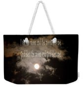 God Bless The Moon Weekender Tote Bag