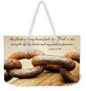 God Is My Strength Weekender Tote Bag