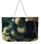 God The Father And Angel Weekender Tote Bag
