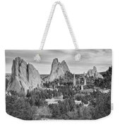 Gods Colorado Garden In Black And White    Weekender Tote Bag