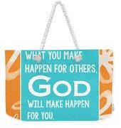 God's Gift Weekender Tote Bag