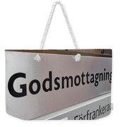 Godsmottagning. Stockholm 2014 Weekender Tote Bag