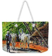 Going Home After Bathing Weekender Tote Bag