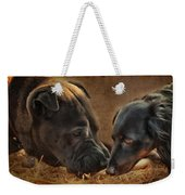 Going Nose To Nose Weekender Tote Bag
