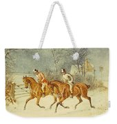 Going Out In A Snowstorm Weekender Tote Bag