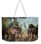 Going To Pasture Weekender Tote Bag
