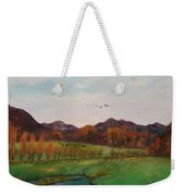 Going To The Cabin Weekender Tote Bag