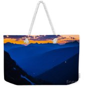 Going-to-the-sun Sunset Weekender Tote Bag