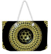 Gold And Black Stained Glass Kaleidoscope Under Glass Weekender Tote Bag